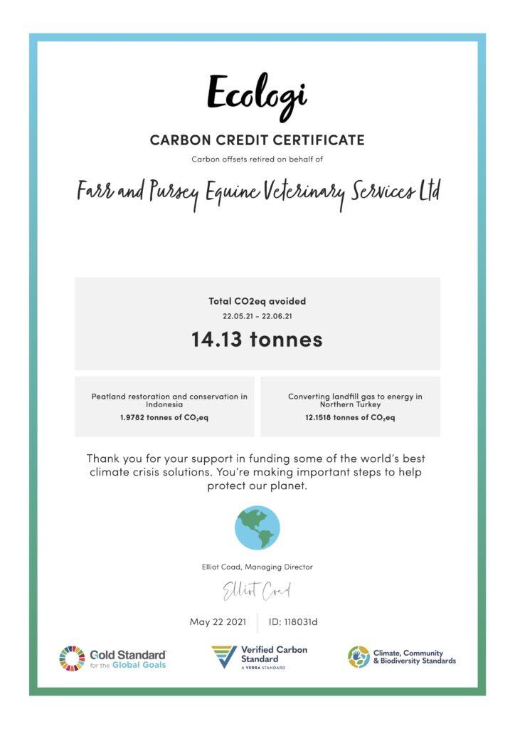 ecologi-certificate